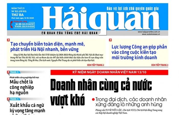 Những tin, bài hấp dẫn trên Báo Hải quan số 123 phát hành ngày 13/10/2020