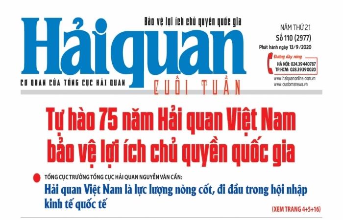 Những tin, bài hấp dẫn trên Báo Hải quan số 110 phát hành ngày 13/9/2020
