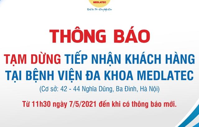 Hà Nội: Cách ly y tế 28 ngày Bệnh viện Medlatec ở Ba Đình