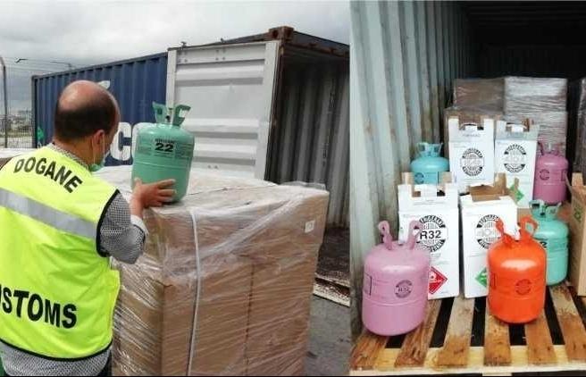 Hải quan Ý, Hải quan Rumania bắt giữ các lô hàng chất làm lạnh bất hợp pháp vào châu Âu