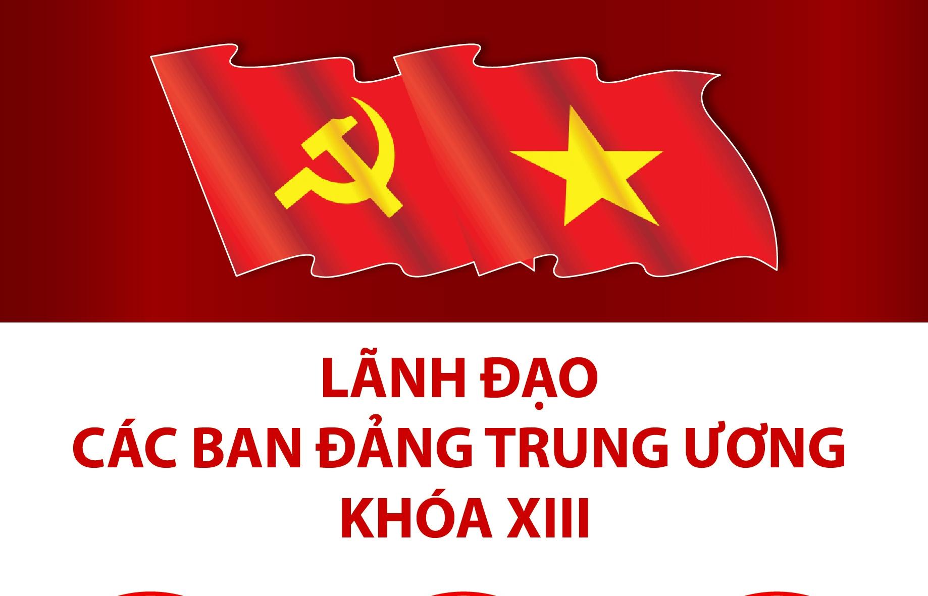 Infographics: Lãnh đạo các ban Đảng Trung ương khóa XIII